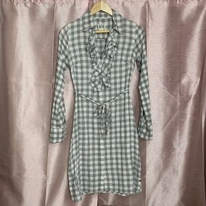 Converse flannel shirt dress with belt S
